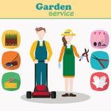 Para ogrodniczka wektoru charaktery Zdjęcia Royalty Free