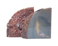 Para okrzesane błękit koronki agata geody podpórki Zdjęcie Stock