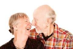 para ostrożnie wprowadzać starszego uśmiechniętego macanie obrazy royalty free