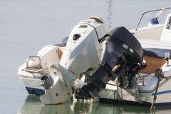 Para outboard silniki Obrazy Stock