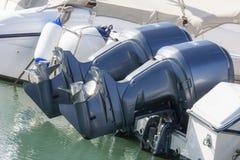Para outboard silniki Obrazy Royalty Free