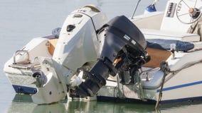 Para outboard silniki Zdjęcie Stock