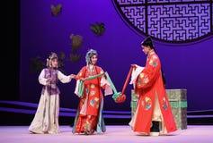 """Para pagar tributo al casamentero en el  del oeste de Chamber†del """"the de la ópera de la boda-Kunqu imagenes de archivo"""