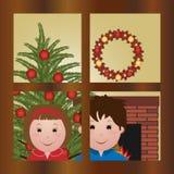 Para Papá Noel que espera Fotos de archivo libres de regalías