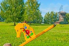 Para pasar el tiempo en Suzdal Imagen de archivo
