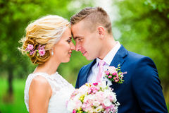 para piękny ślub Obraz Royalty Free