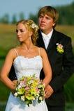 para piękny ślub obrazy stock