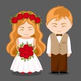 para piękny nowożeńcy ilustracji