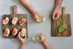 para pije wino Fotografia Stock