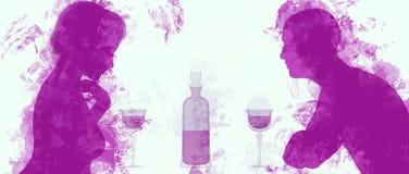 para pije wino Fotografia Royalty Free