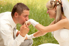 para poślubiająca niedawno Obraz Royalty Free