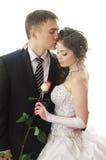 para poślubiająca niedawno Fotografia Royalty Free