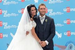 Para poślubiająca przy Giffoni Ekranowym festiwalem Zdjęcie Royalty Free