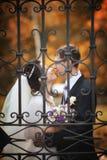 Para przy ślubem obraz stock