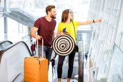 Para przy lotniskiem obraz stock