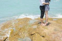 Para przy morzem Obrazy Stock
