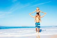Para przy plażą Obrazy Stock