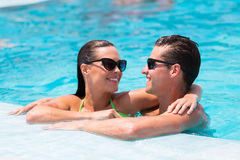 Para relaksujący basen Fotografia Stock