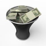 Para rolar no dinheiro Fotos de Stock Royalty Free