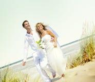 Para romansu plaży miłości małżeństwa pojęcie Obraz Stock
