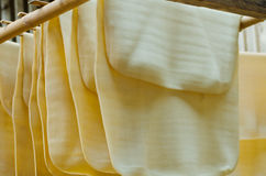 Para rubber dry sheets Stock Image