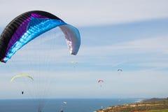 Para Sailing over La Jolla California Stock Photos