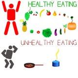 Para ser saudável, você precisa de comer saudável Imagens de Stock Royalty Free