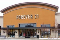 Para siempre exterior de la tienda al por menor 21 Foto de archivo