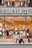 Para siempre 21 mercado, Shangai, China Imagen de archivo