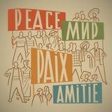 Para siempre peace2 stock de ilustración
