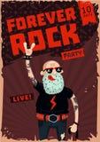 Para siempre roca Música de la escuela vieja Cartel divertido Imagenes de archivo