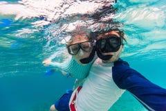 Para snorkeling obraz royalty free
