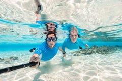 Para snorkeling obraz stock