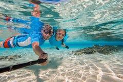 Para snorkeling Obrazy Stock