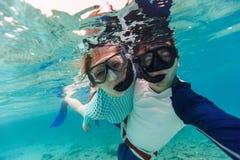 Para snorkeling zdjęcia stock