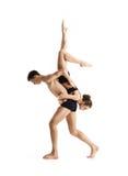Para sporty baletniczy tancerze w sztuka występie Obrazy Royalty Free