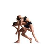 Para sporty baletniczy tancerze w sztuka występie Zdjęcie Royalty Free