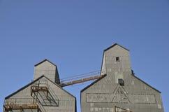 Para stare zbożowe windy Fotografia Stock