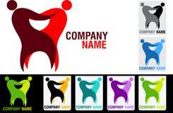 Para stomatologiczny logo Zdjęcia Stock