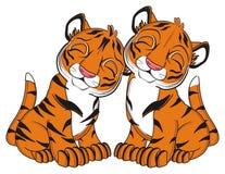 Para sypialni tygrysy royalty ilustracja