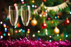 Para szampańscy szkła Obrazy Stock