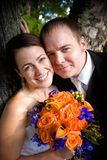 para szczęśliwy ślub zdjęcia stock