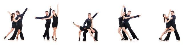 Para tancerze odizolowywający na bielu obrazy royalty free