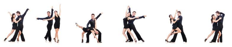 Para tancerze odizolowywający na bielu obraz stock