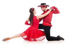 Para tancerze odizolowywający Zdjęcie Royalty Free