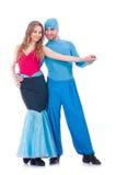 Para tancerze tanczy nowożytnego tana odizolowywającego Obraz Royalty Free