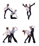 Para tancerze tanczy nowożytnych tanów Zdjęcia Royalty Free