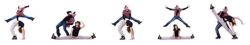 Para tancerze tanczy nowożytnych tanów Zdjęcie Stock