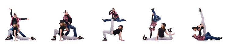 Para tancerze tanczy nowożytnych tanów Obrazy Stock