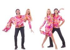 Para taniec odizolowywający na bielu Zdjęcie Stock